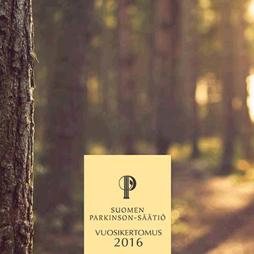 Suomen Parkinson-Säätiön vuosikertomus suunniteltiin ja taitettiin Mainostoimisto Hurraassa.